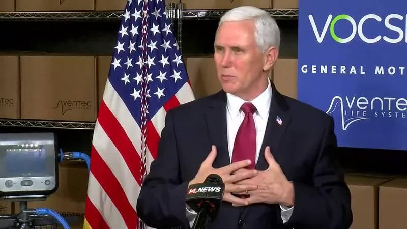 Vice President Mike Pence visits Kokomo GM plant to highlight ventilator production