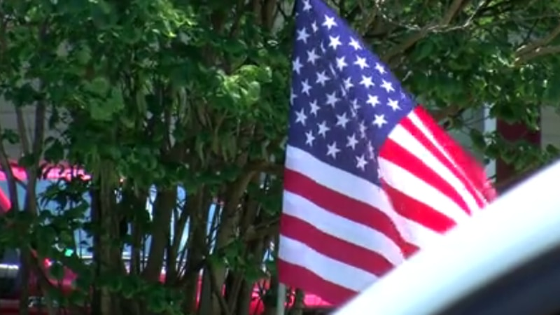 The Flagman's Mission came to Mount Carmel on Sunday to put up nearly 500 flags around the city...