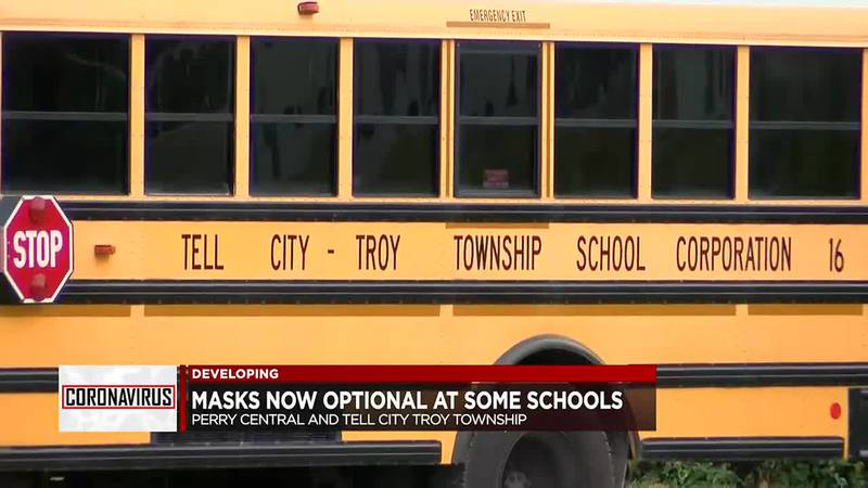 Some area schools back to masks optional.