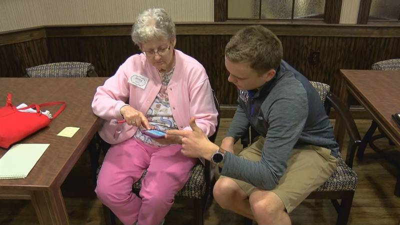 A group from Castle HS is working to connect their peers and the elderly with a new program....