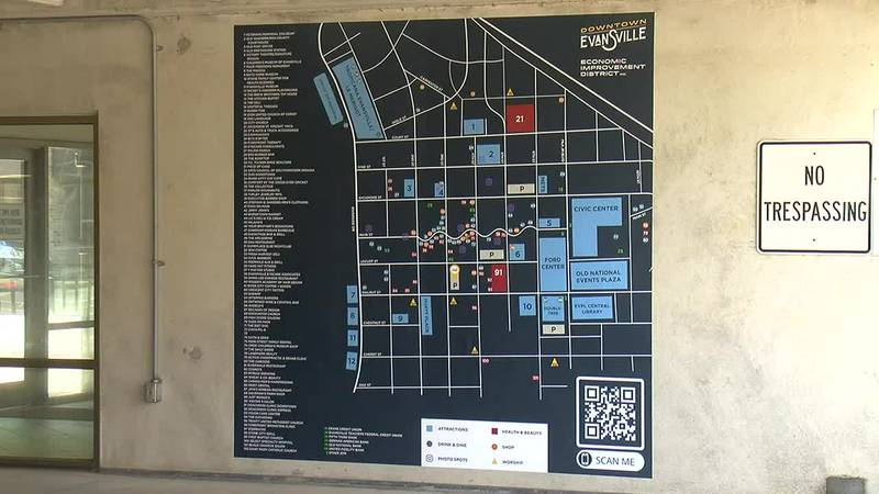 Downtown maps now up in Evansville