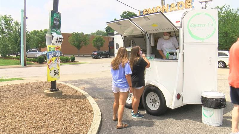 Emily Williams created Squeeze-E's lemonade truck which she says has helped keep her debt free.