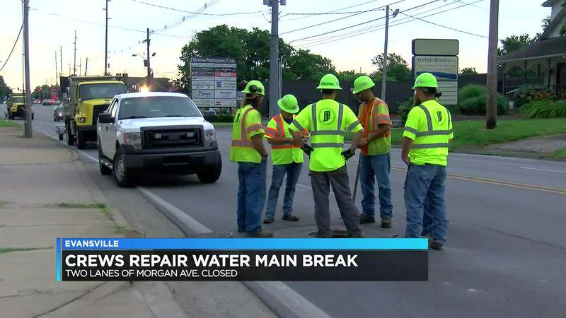 Fix underway on Morgan Ave sinkhole