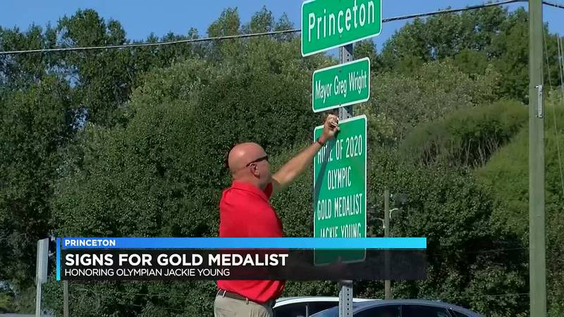 Princeton adds 'Home of 2020 Olympic Gold Medalist Jackie Young' to street signs