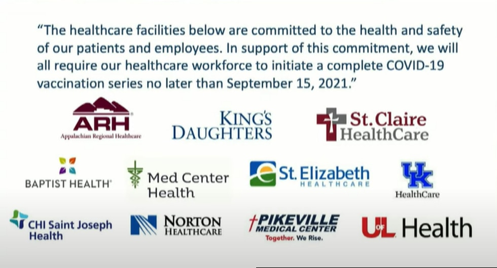 Several Kentucky healthcare facilities have come together and are committed to vaccinating all...