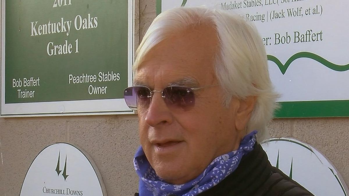 Thoroughbred trainer Bob Baffert