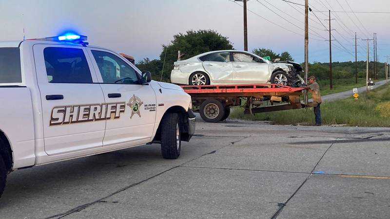 Car crash on State Road 61 Warrick Co.