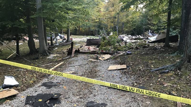 The aftermath of a home explosion in Breckinridge Co.
