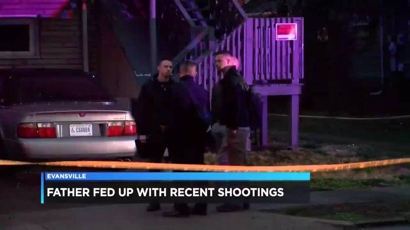 Evansville father is fed up with the amount of gun violence