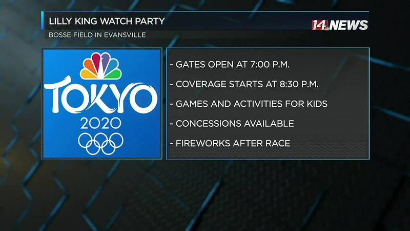 Lilly King Olympic watch party happening Monday night at Bosse Field
