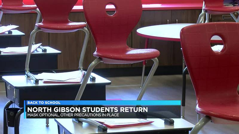 North Gibson Schools return to class with masks optional.