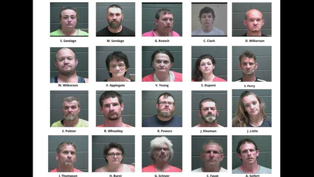Drug roundup leads to 21 arrested in Tell City