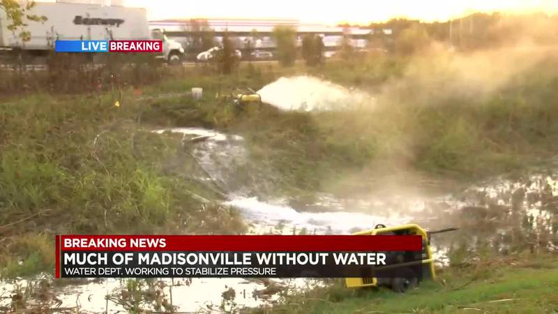 GF Default - Much of Madisonville loses water pressure after main break