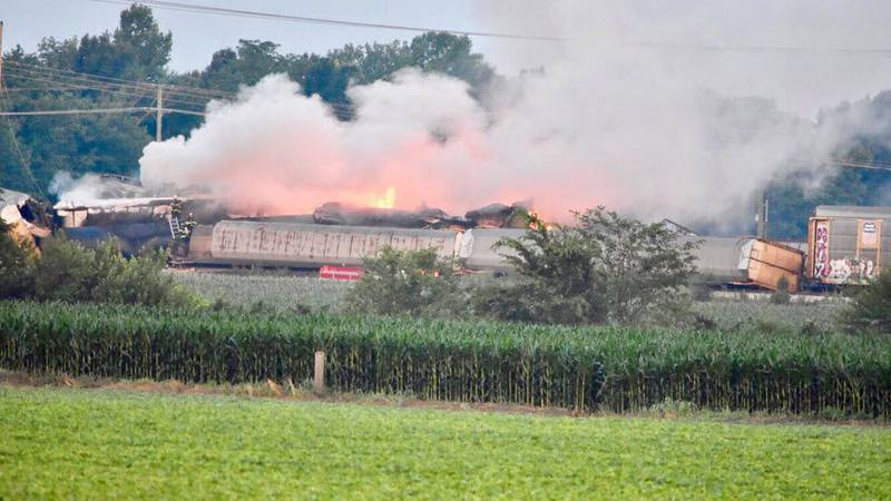 Train derailment on Monday morning. (Source: Indiana State Police)