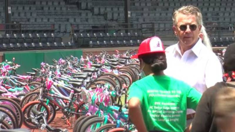 280 students receive new bikes in annual bike giveaway