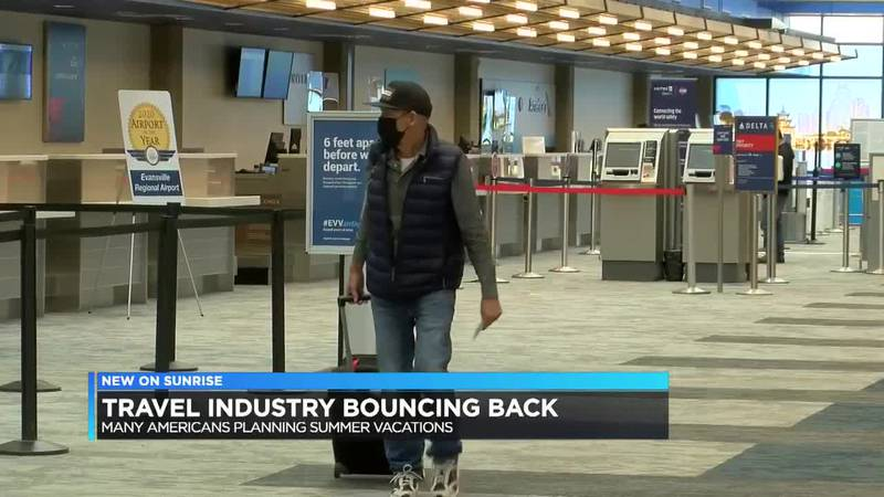 Travel industry bouncing back with many planning summer vacations.
