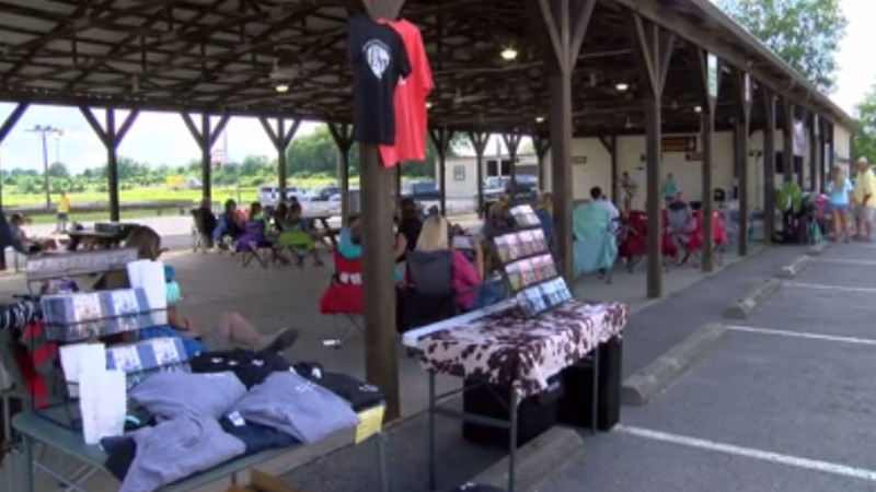 A concert dedicated to domestic violence awareness was held at the old Henderson County...