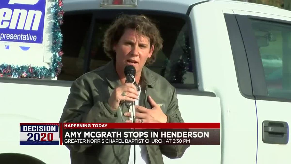 McGrath to stop in Henderson Friday.