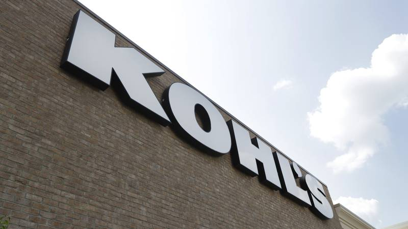 FILE - In this Aug. 28, 2018, fie photo, a Kohl's sign is shown in front of a Kohl's store in...